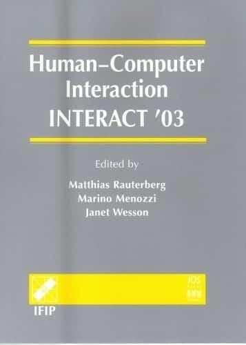 Human computer Interaction INTERACT 03