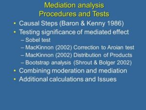 mediation aanalysis procedures and tests