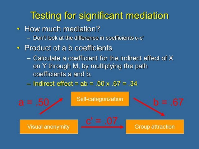 Testing for significant mediation