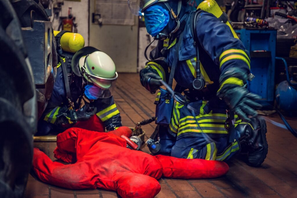 Psychological effects of wearing hazmat and breathing equipment