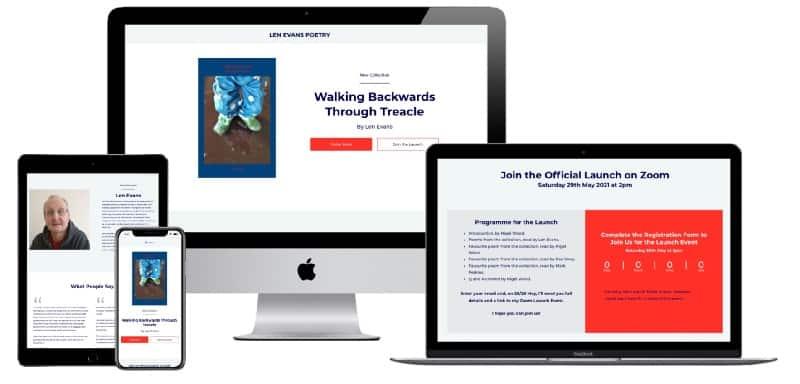 Poet Len Evans Book Launch Website by martinlea.com
