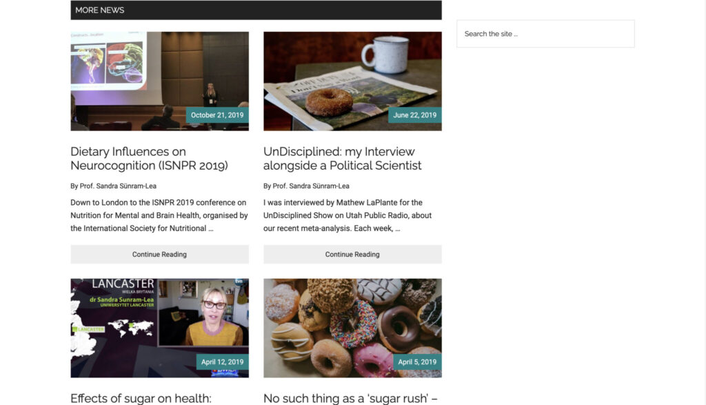 personal academic website display news on home page