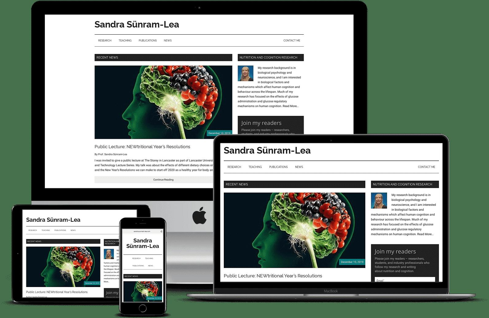Sandra Sunram-Lea Personal Academic Website